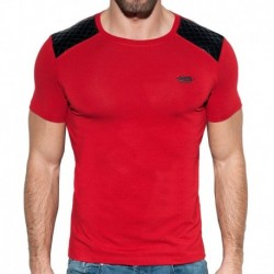 ES Collection Dystopia Quilted T-Shirt - Red ... 1f2cf3c80