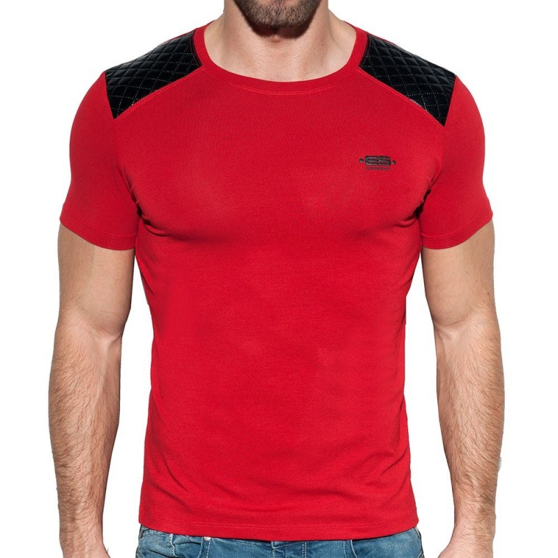 T-Shirt Dystopia Quilted Rouge