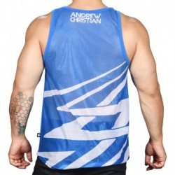 Andrew Christian Party Mesh Tank Top - Electric Blue