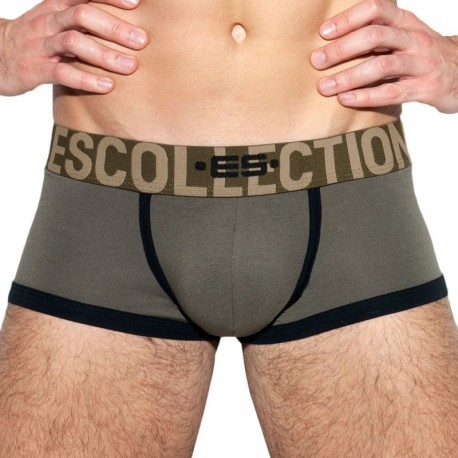 ES Collection Boxer Empty Bottom Second Skin Kaki