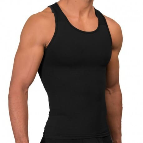 Rounderbum Seamless Compression Tank Top - Black