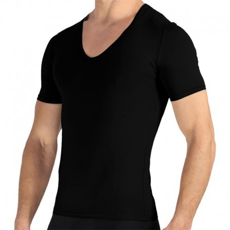 Rounderbum 2-Pack Deep V-Neck T-Shirts - Black
