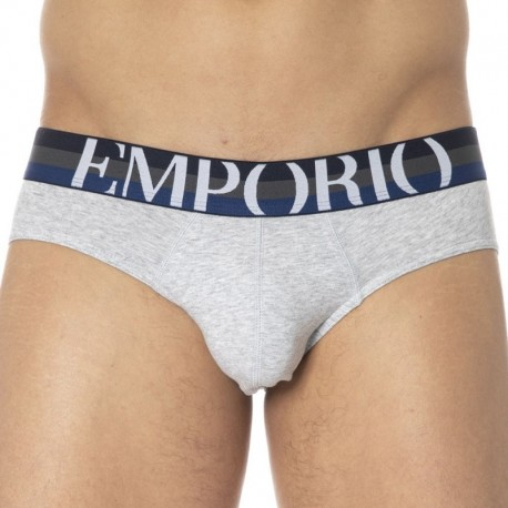 Emporio Armani Big Eagle Brief - Heather Grey