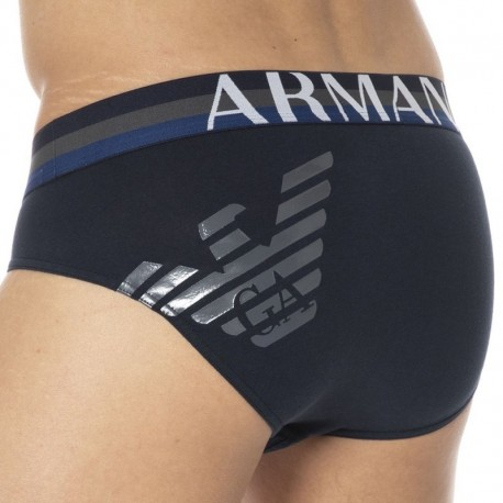 Emporio Armani Big Eagle Brief - Navy