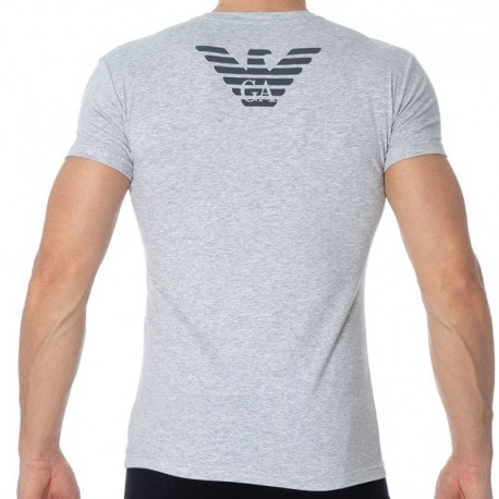 Emporio Armani Big Eagle T-Shirt - Heather Grey