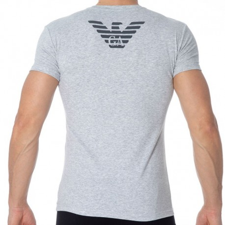 Emporio Armani T-Shirt Big Eagle Gris Chiné