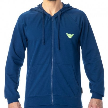 Emporio Armani Bold Eagle Terry Jacket - Blue
