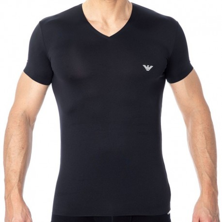 Emporio Armani Bonding Microfiber T-Shirt - Black