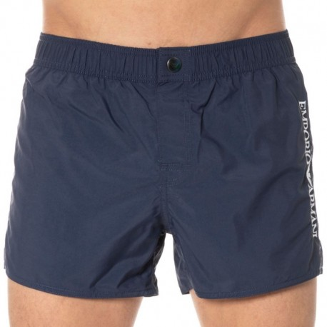 Emporio Armani Iconic Embroidery Logo Swim Short - Navy