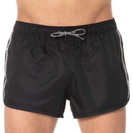 Emporio Armani Iconic Logo Tape Swim Short - Black