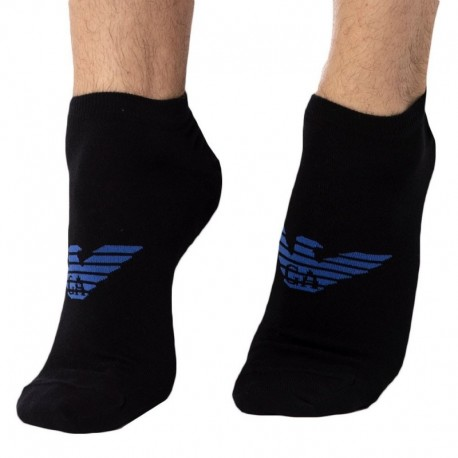Emporio Armani 3-Pack Inside Mini Socks - Black