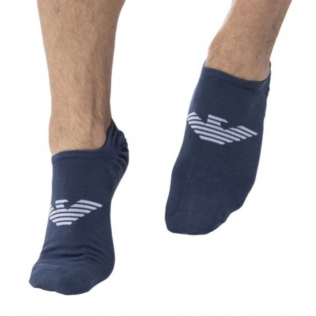 Emporio Armani Invisible Socks - Blue