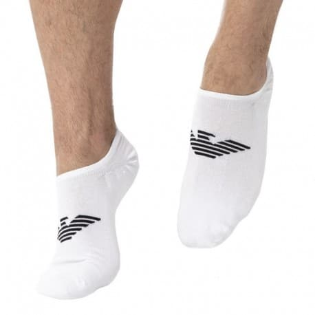 Emporio Armani Invisible Socks - White