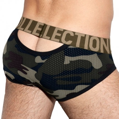 ES Collection Slip Mesh Double Opening Camouflage