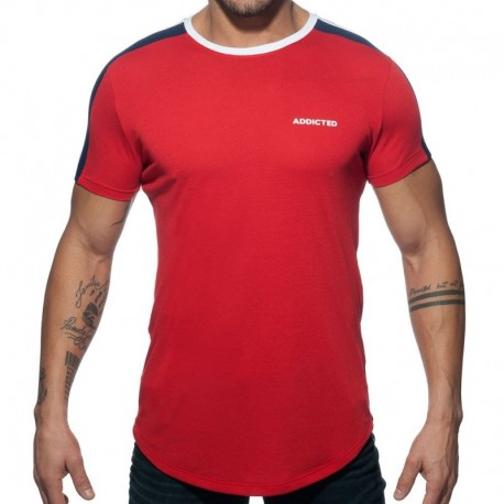 Addicted T-Shirt Raglan Rouge