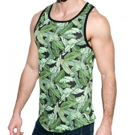 ES Collection Leaves Tank Top - Black