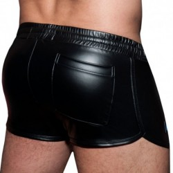 AD Fetish Short Rocky Double Stripe Noir - Royal