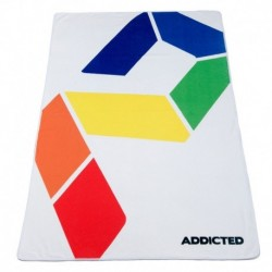 Addicted Drap de Bain AD Rainbow Blanc
