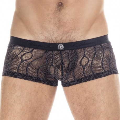 L'Homme invisible Anton Hipster Push Up Boxer - Black