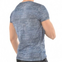 Roberto Lucca T-Shirt V-Neck Jeans Denim Clair