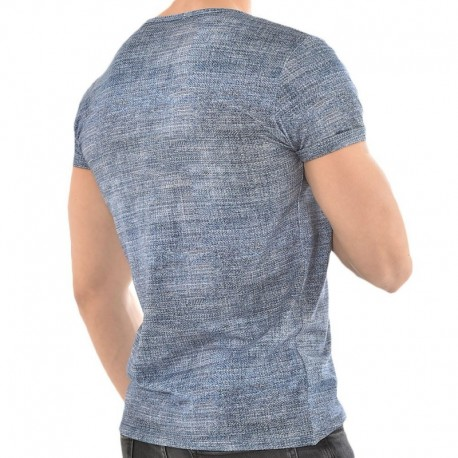 Roberto Lucca Jeans V-Neck T-Shirt - Light Denim
