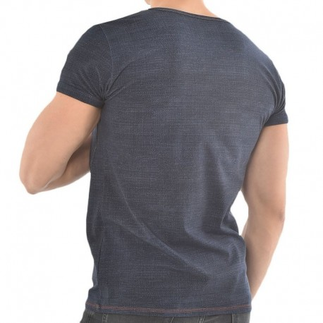 Roberto Lucca T-Shirt V-Neck Jeans Denim