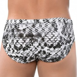 Roberto Lucca Snake Brief - White