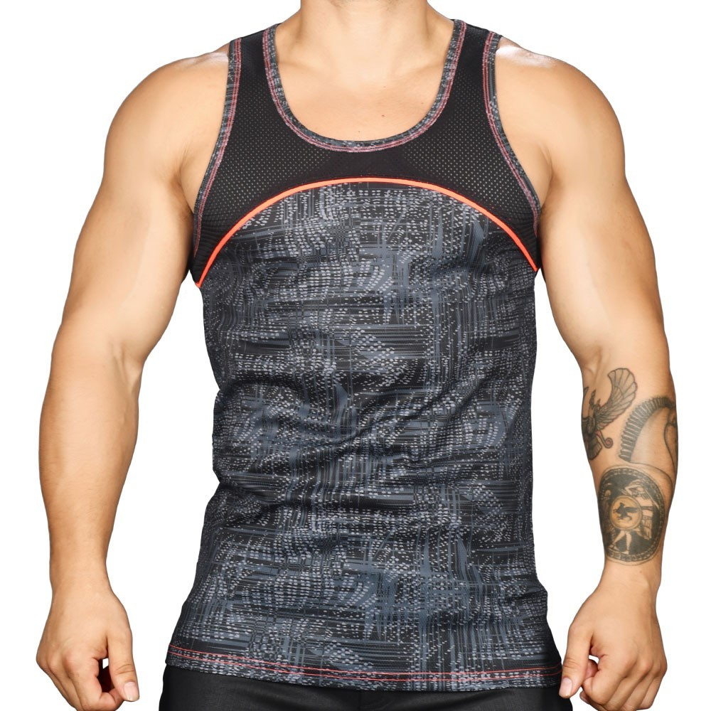 45f7cf746c6ccc Vibe Reaction Mesh Tank Top. Andrew Christian
