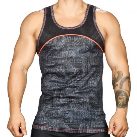 Andrew Christian Vibe Reaction Mesh Tank Top