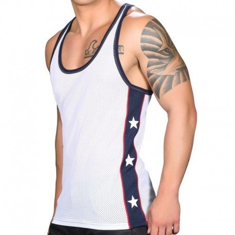 Andrew Christian Superhero Tank Top - White