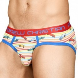 Andrew Christian Vintage Car Rainbow Brief