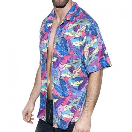 ES Collection Leaves Shirt - Blue
