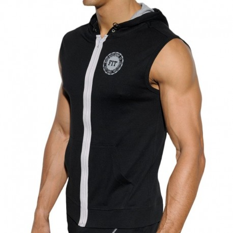 ES Collection Veste Hoody FIT Noire