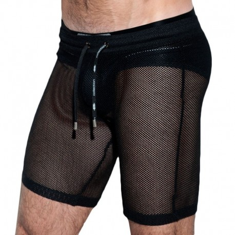 ES Collection Short Athletic Mesh Noir