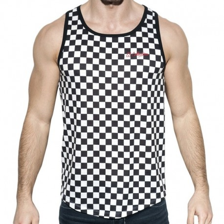 ES Collection Rally Tank Top - Black - White