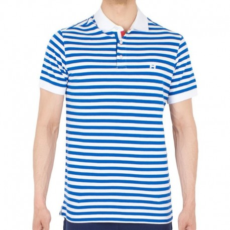 HOM Aubin Polo - Blue - White