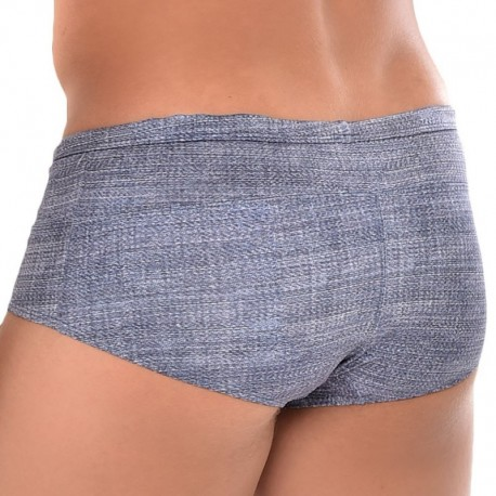 Roberto Lucca Shorty de Bain Jeans Denim Clair