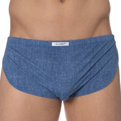 Joe Snyder Boxer Running Short Blue Jeans