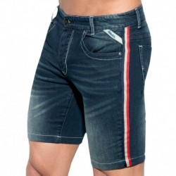 ES Collection Bermuda Jeans Flag Marine