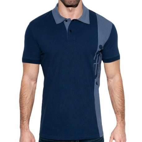 ES Collection ES Logo Basic Polo Shirt - Navy