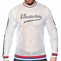 ES Collection T-Shirt Mesh Open Blanc