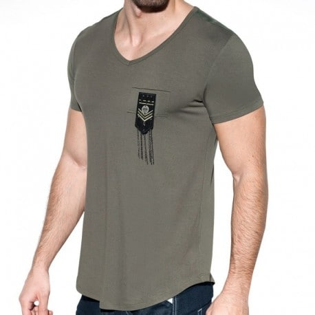 ES Collection Chains Shield T-Shirt - Khaki