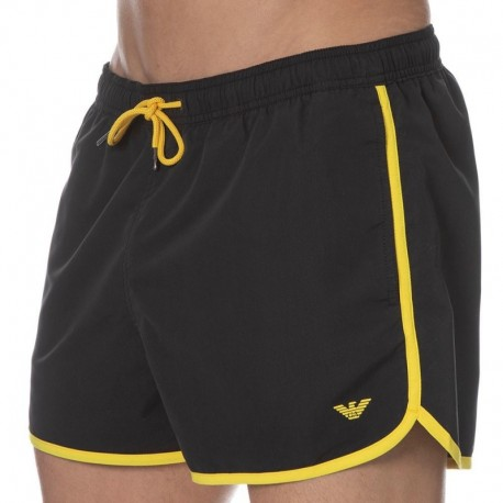 Emporio Armani Iconic Pop Contrast Swim Short - Black