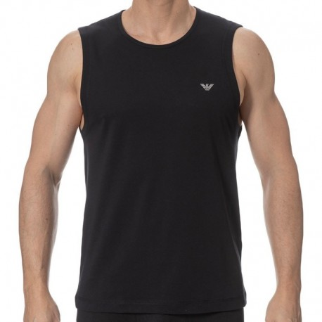 Emporio Armani Metal Eagle Tank Top - Black