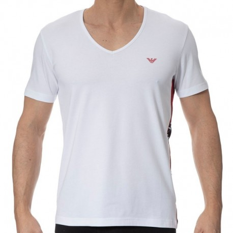 Emporio Armani Color Block T-Shirt - White