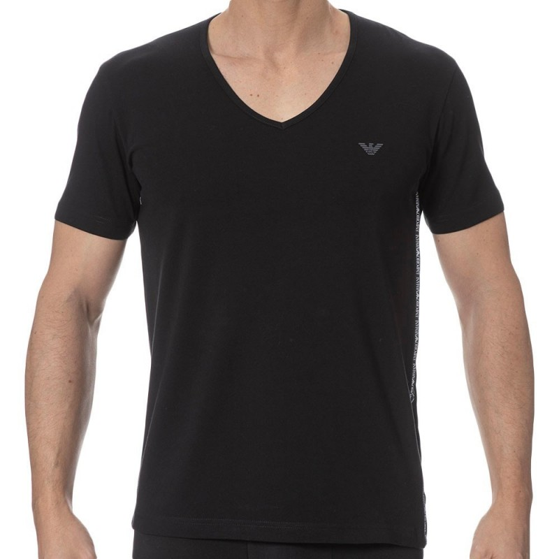 T-Shirt Color Block Noir