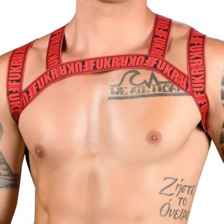 Andrew Christian FUKR Exposed Harness - Black - Red