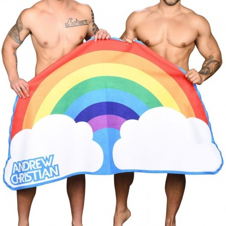 Andrew Christian Pride Beach Towel - Rainbow
