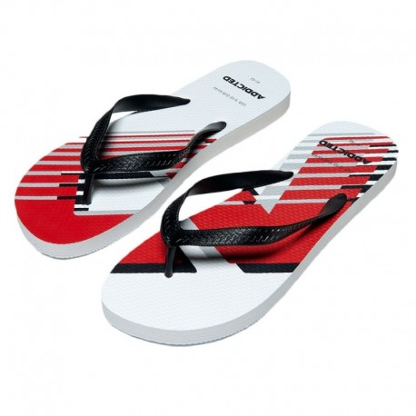 Addicted AD Logo Flip Flops - White