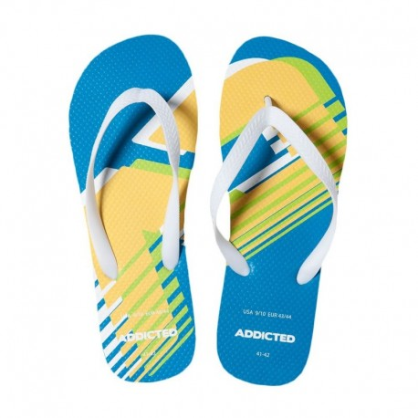 Addicted AD Logo Flip Flops - Blue